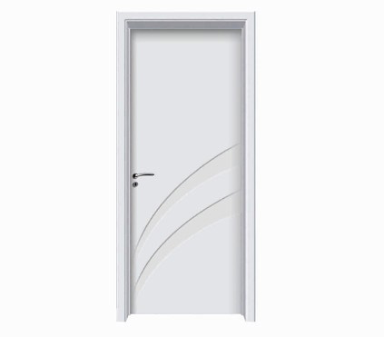 Double diagonal stripes white WPC door