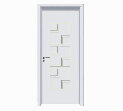Fashion irregular patterns white WPC door