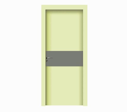 Minimalist rectangular pattern WPC door