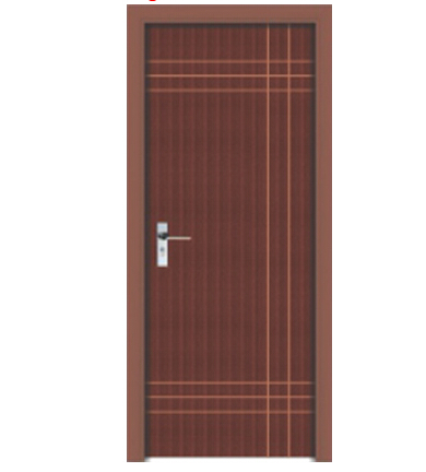 Cross lines wood plastic WPC door