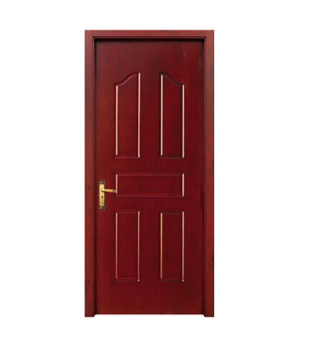 Striped wood plastic composite door