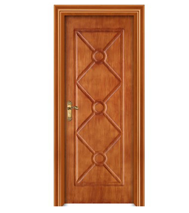 Retro diamond pattern WPC door