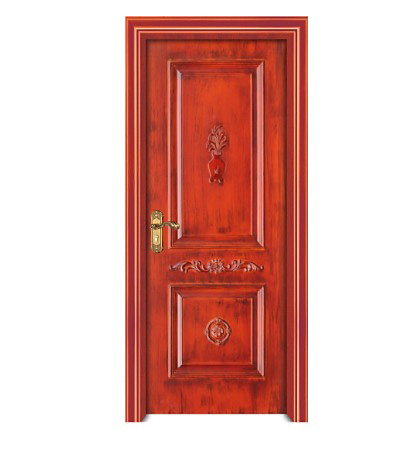 Retro personalized wood plastic composite door