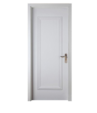 White minimalist wood plastic composite door