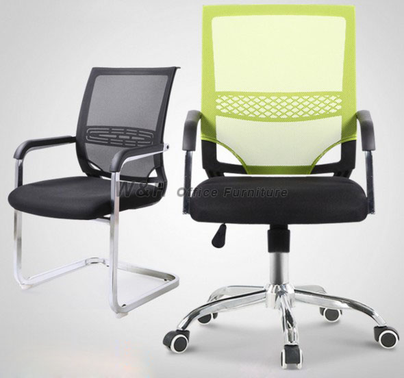 Classic mesh cloth office L chair