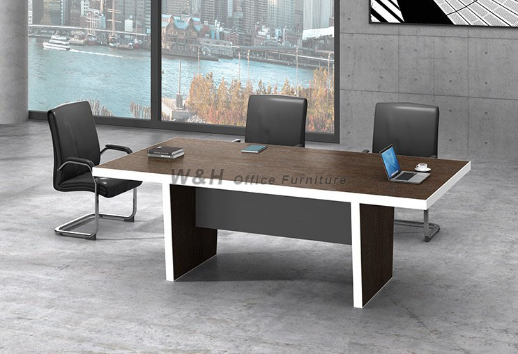 Rectangular modern style conference table