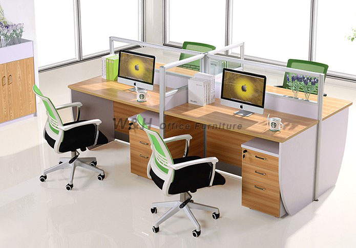 Modern style staff office cubicles