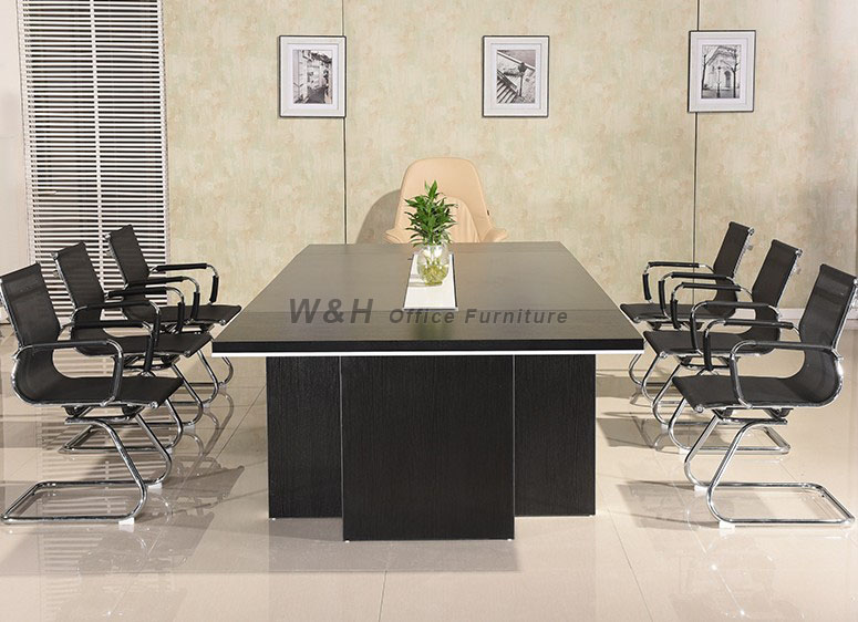Black modern style conference table