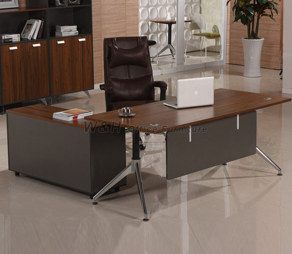Walnut Modern Business Office Desk