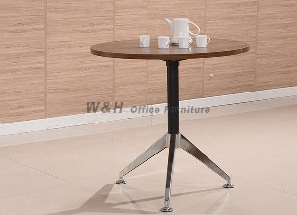 Minimalist small round conference table / coffee table