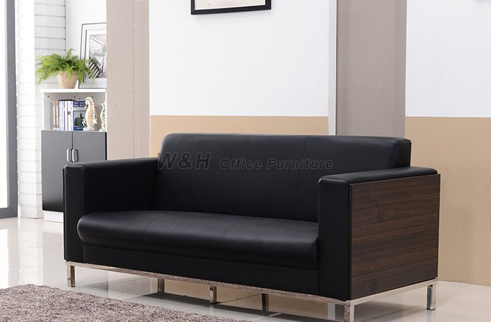 Classic black business sofas