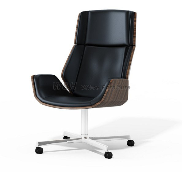 Ergonomic fashion wooden swivel chair