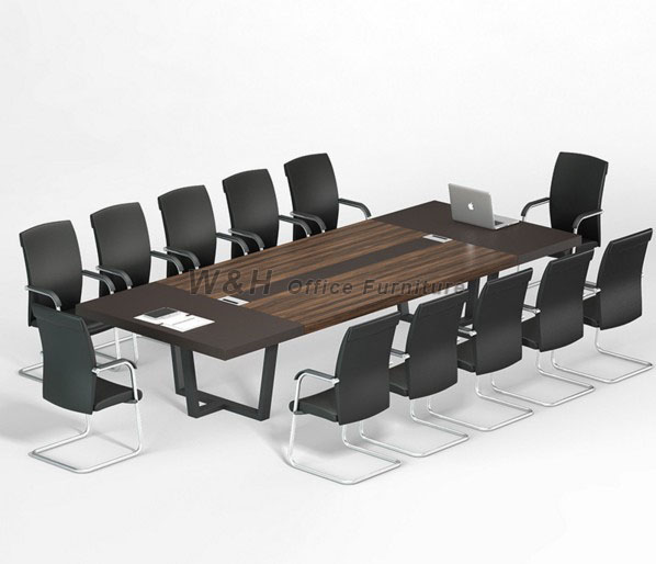 Minimalist rectangular large conference table