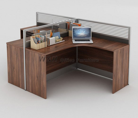 Fashion walnut style office cubicles