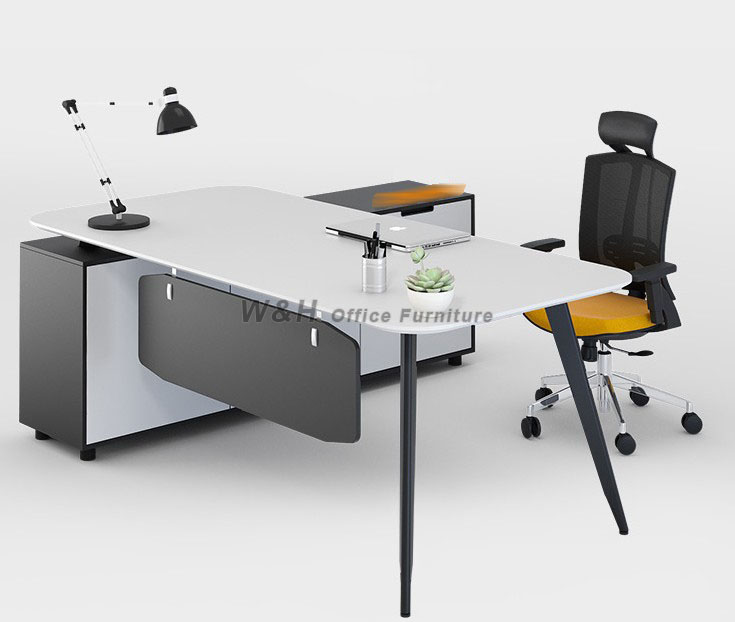 Modern minimalist white office table