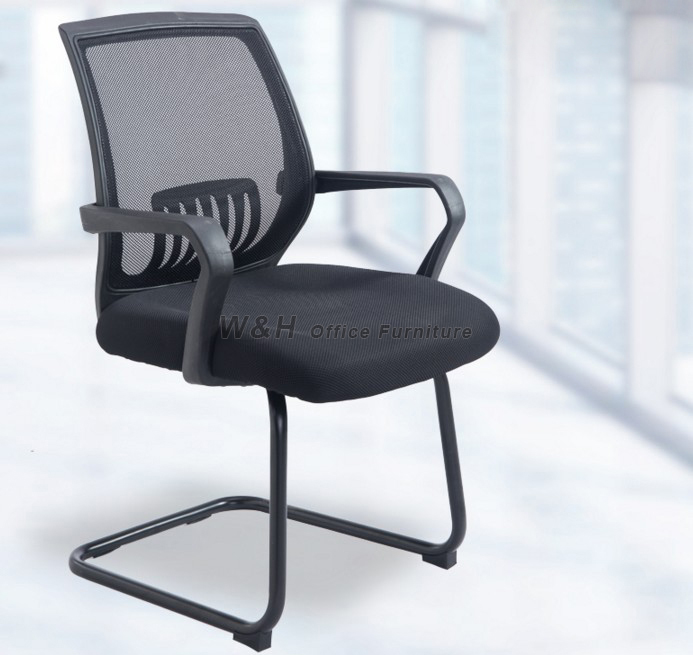 L-type black classic office chair