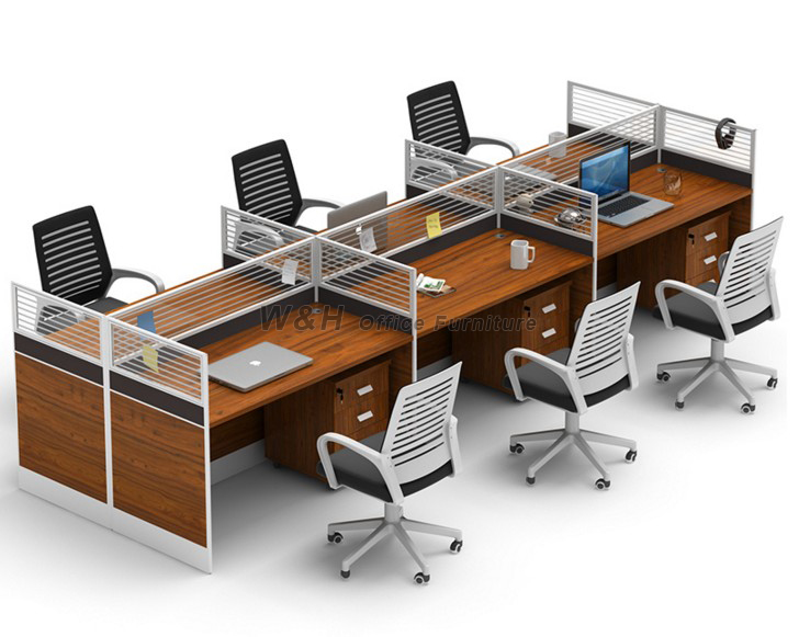 Stylish modern wooden office cubicles