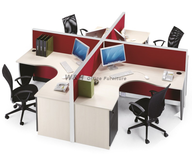 4 seats stylish office cubicles
