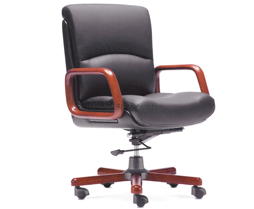 Black classic boss's leather swivel chair