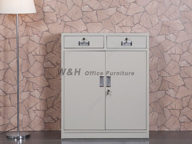 Small metal office file cabinet
