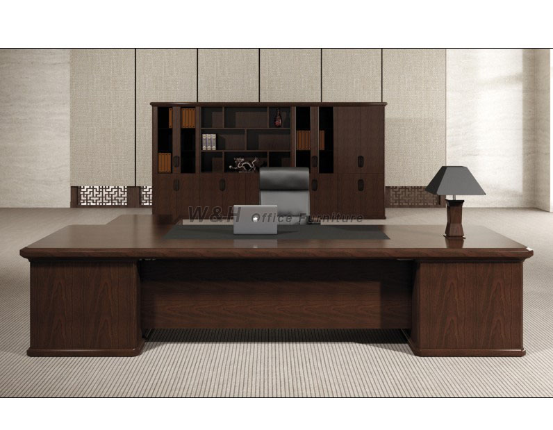 Large luxury solid wood manager office desk