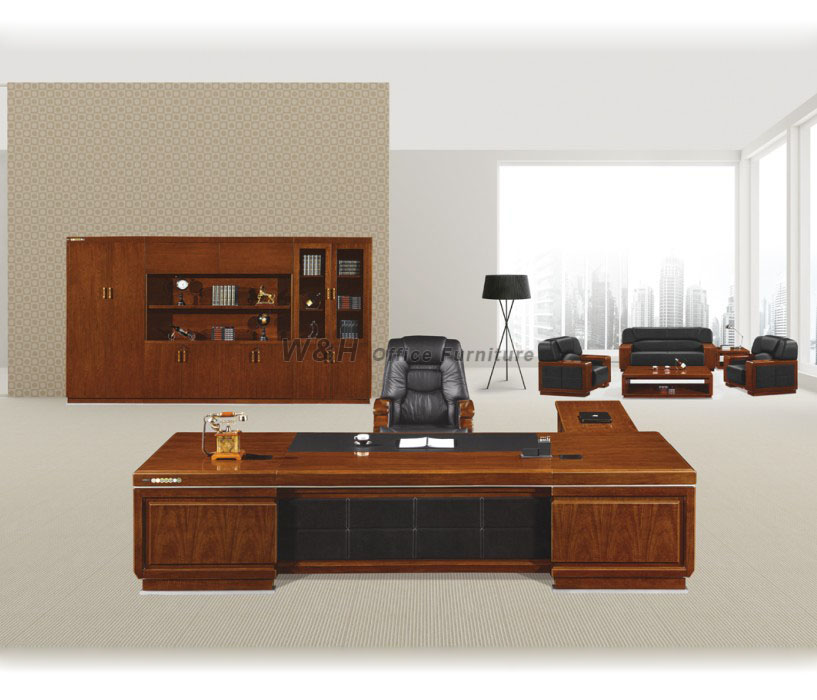 Large luxury series of solid wood manager office desk