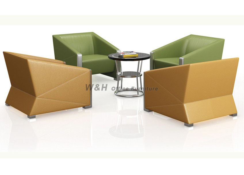 Stylish minimalist business office sofa