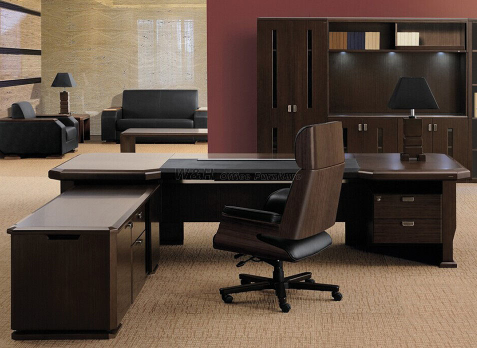 Large series of luxury wooden office desk