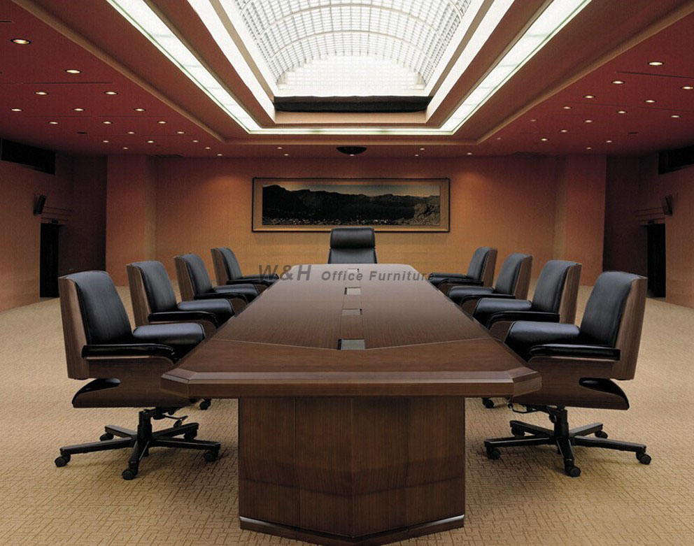 Walnut color large luxury series conference table