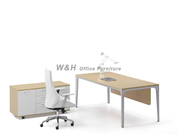 Light - colored modern manager office desk