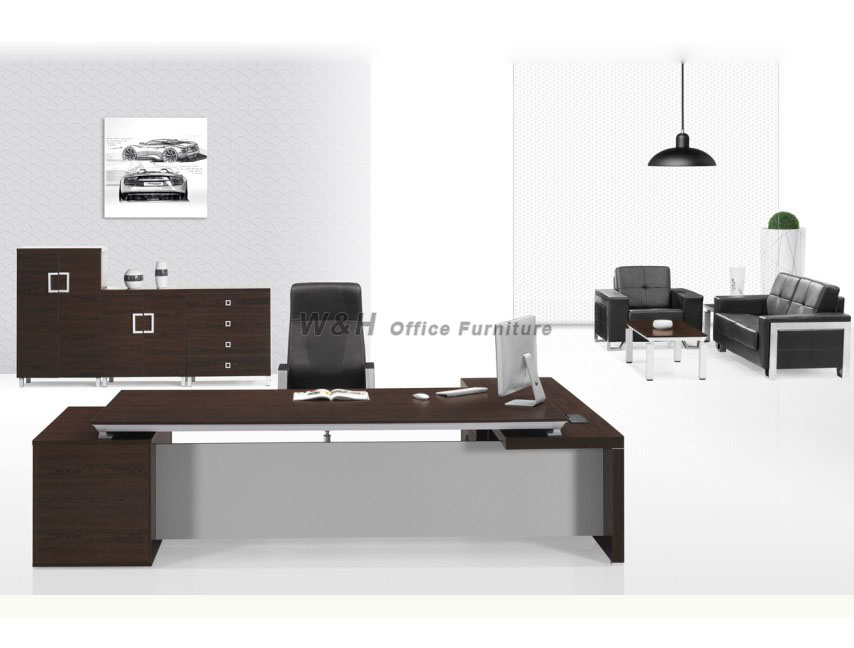 Dark - colored modern manager office desk