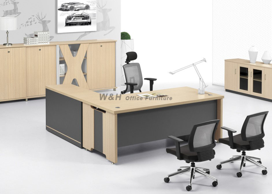 Wooden modern manager office desk