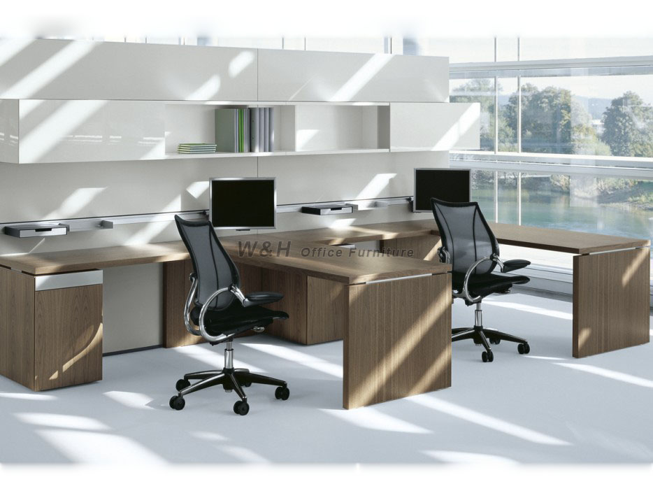 Double seats modern office cubicles