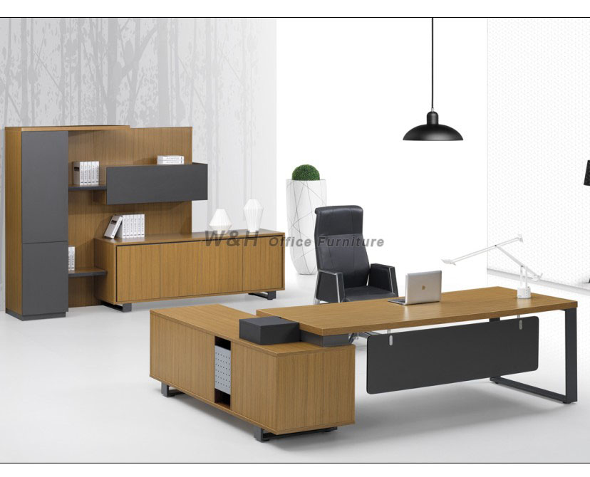 Wood grain manager office desk