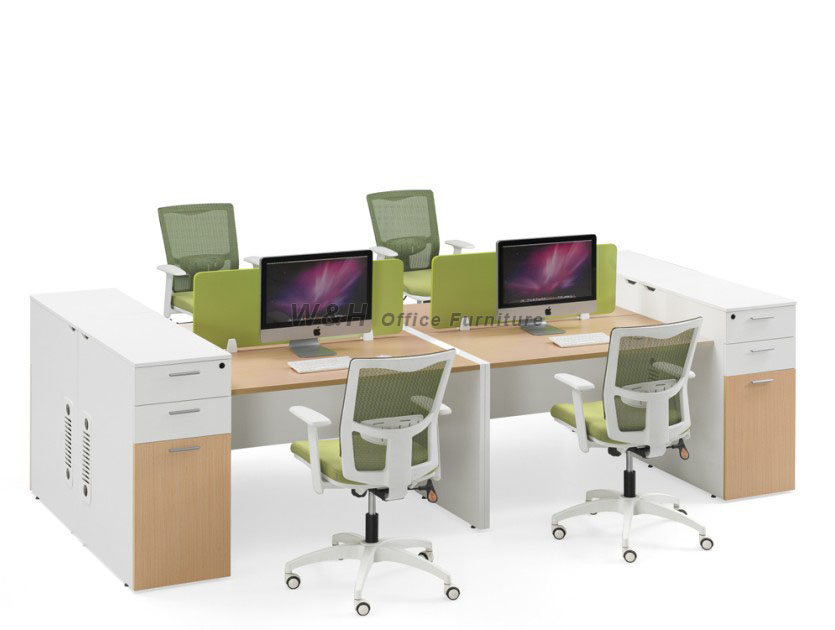 four seats modern office cubicles