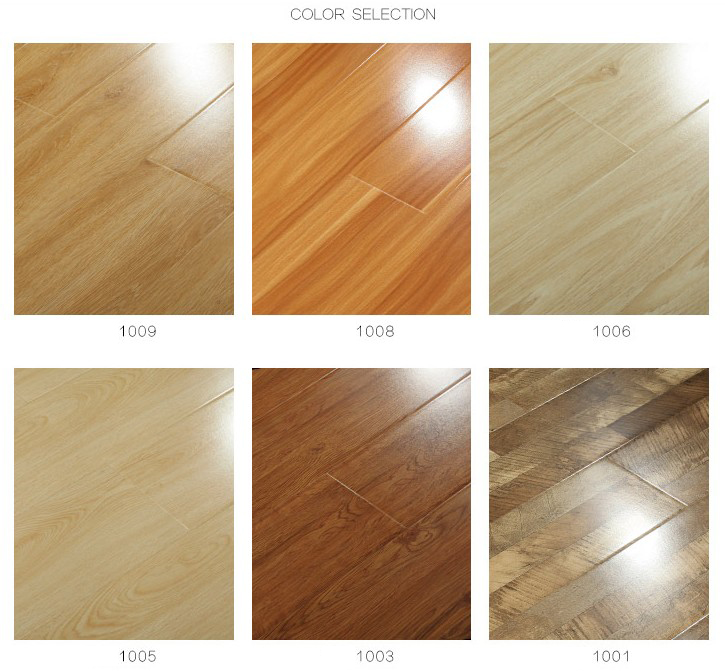 Waterproof and wearable mirror laminate flooring