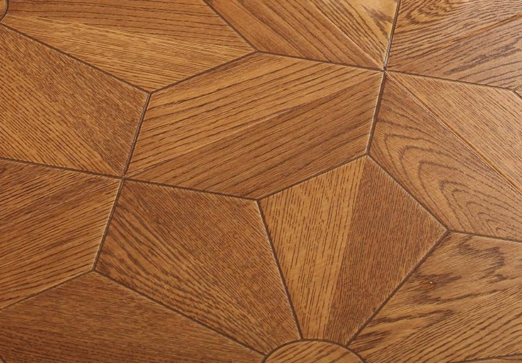 European-style flower stitching laminate flooring